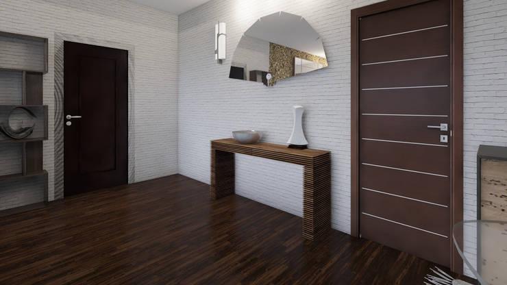 Home Staging Virtual : Pasillos y vestíbulos de estilo  por Arkiline Arquitectura Optativa, Moderno Aglomerado