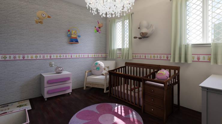 Home Staging Virtual: Habitaciones infantiles de estilo  por Arkiline Arquitectura Optativa, Moderno Aglomerado
