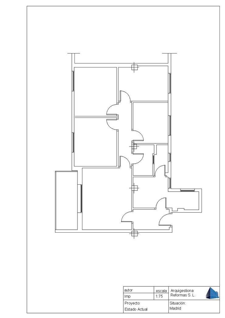 Plano antes de la Reforma:  de estilo  de Arquigestiona Reformas S.L., Minimalista