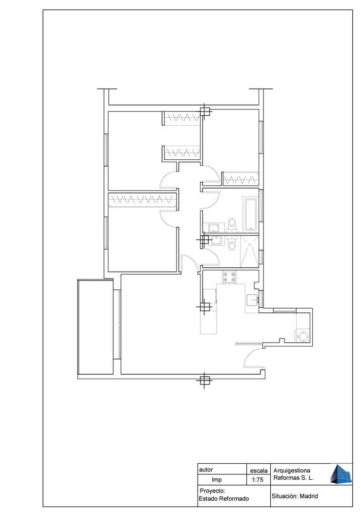 Plano después de la Reforma:  de estilo  de Arquigestiona Reformas S.L., Minimalista
