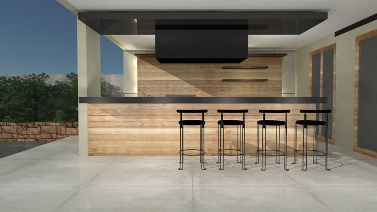 QUINCHO :  de estilo  por  Constructora Sanar spa , Moderno