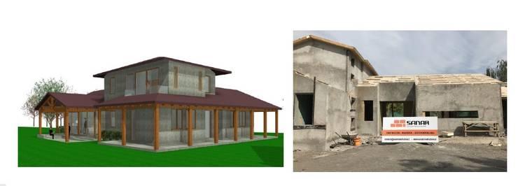 CONSTRUCCIÓN DE VIVIENDA :  de estilo  por  Constructora Sanar spa , Moderno