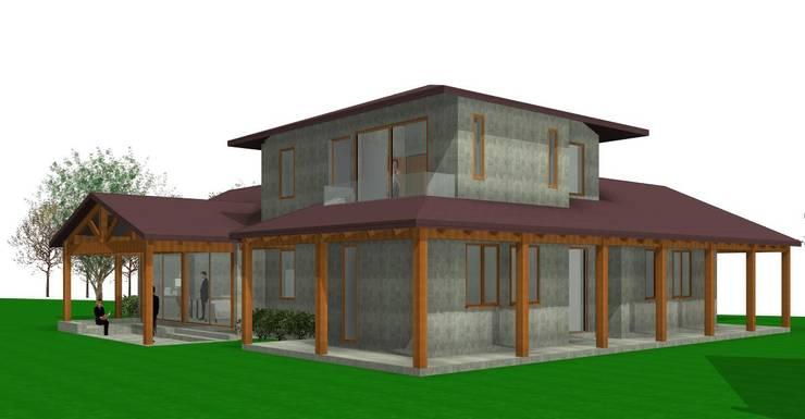 VIVIENDA EN 3D :  de estilo  por  Constructora Sanar spa , Moderno