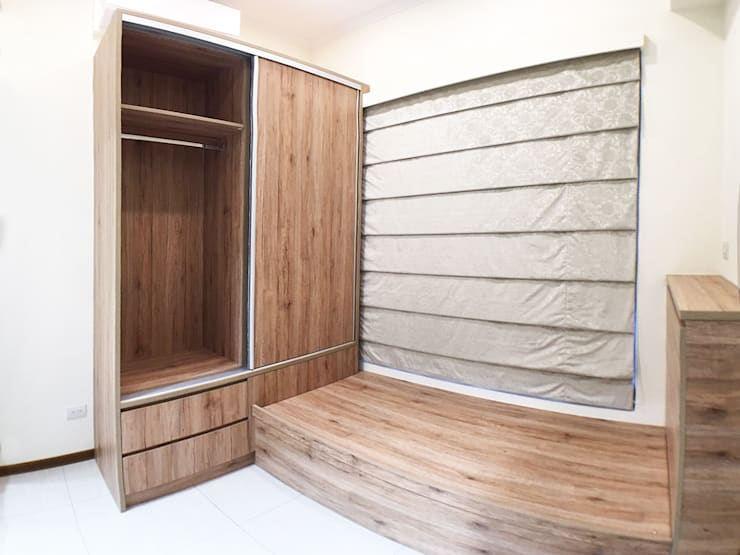 全室案例-台北市大同區-1:  小臥室 by ISQ 質の木系統家具, 北歐風