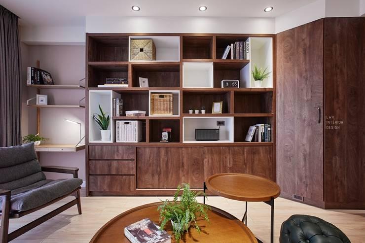 柔和光景:  客廳 by 長寬高空間設計, 現代風