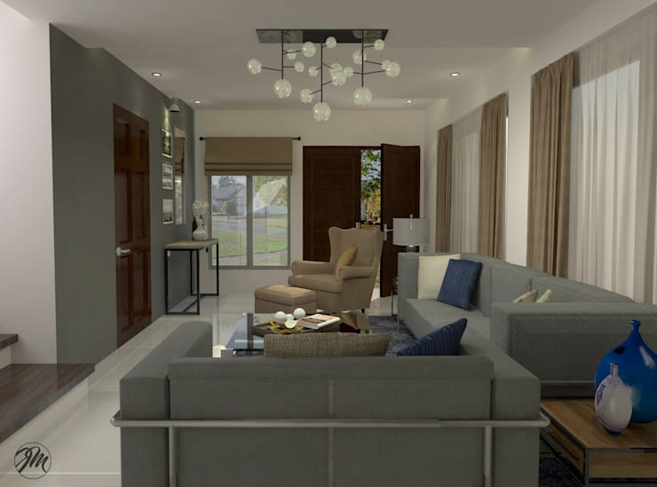 Living Area view 1:  Living room by JM Razon Interiors, Modern