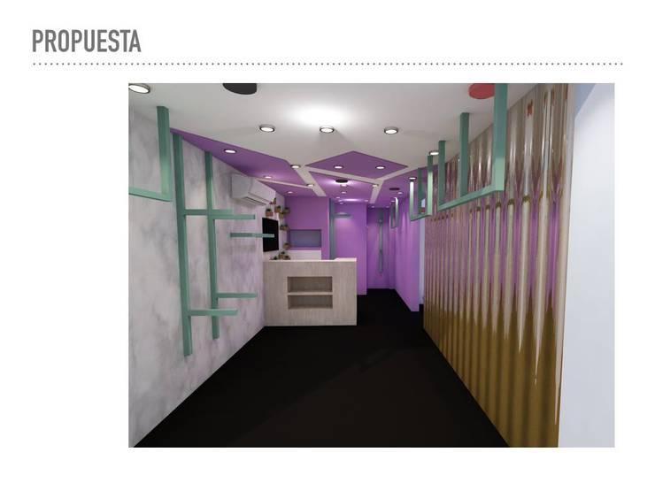 diseño comercial: Espacios comerciales de estilo  por TICKTO STUDIO, Moderno