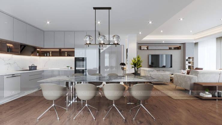 CHAM OASIS VILLA-M03 Nhà bếp phong cách hiện đại bởi RIKATA DESIGN Hiện đại