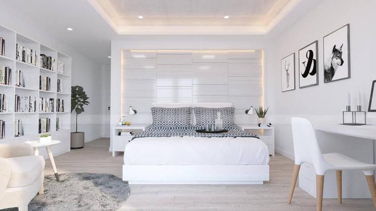 CHAM OASIS VILLA-M03 Phòng ngủ phong cách Bắc Âu bởi RIKATA DESIGN Bắc Âu