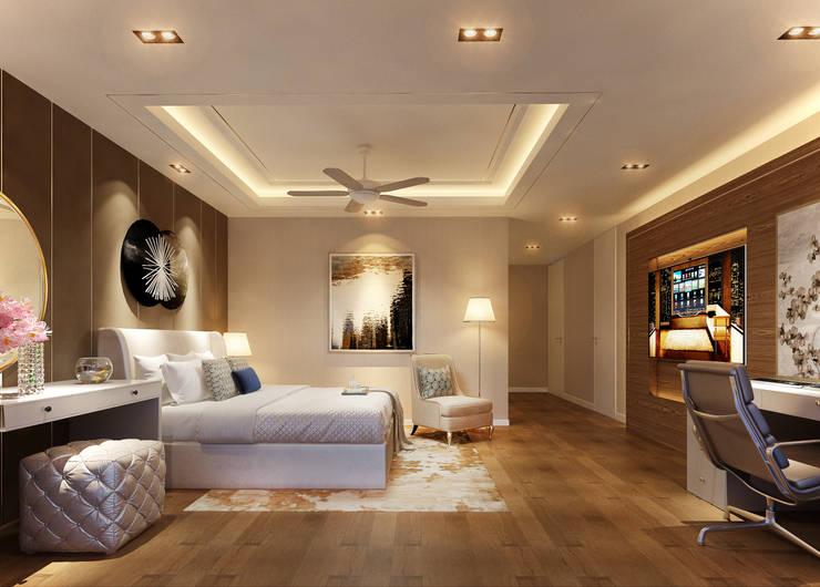 CHAM OASIS VILLA-M03 Phòng ngủ phong cách hiện đại bởi RIKATA DESIGN Hiện đại