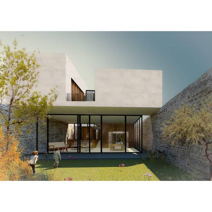 Minimalistische Häuser von AWA arquitectos Minimalistisch Glas