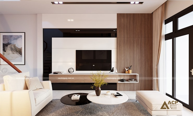 Thiết kế kiến trúc nội thất: hiện đại  by CÔNG TY CỔ PHẦN KIẾN TRÚC XÂY DỰNG ACP, Hiện đại Gỗ thiết kế Transparent