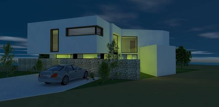CASA GIRASOL: Casas unifamiliares de estilo  por Sociedad Comercial & Ingeniería ING Spa., Moderno