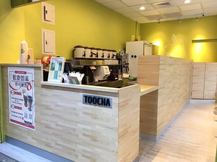鬥茶堂 toocha 精緻飲品專賣店:  商業空間 by 捷士空間設計(省錢裝潢), 現代風