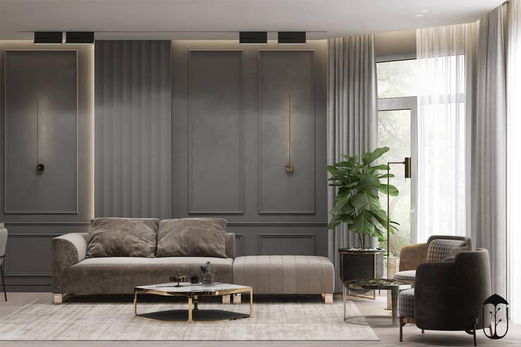 Salones de estilo ecléctico de U-Style design studio Ecléctico