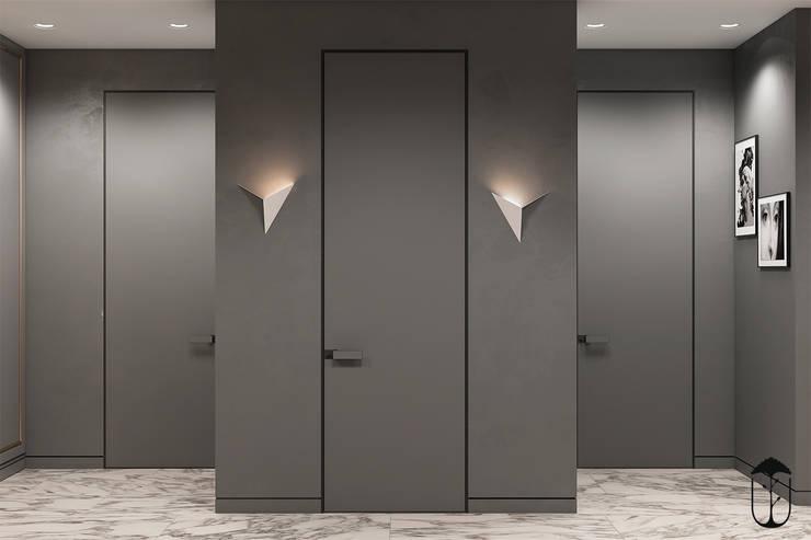 Pasillos y vestíbulos de estilo  por U-Style design studio, Ecléctico