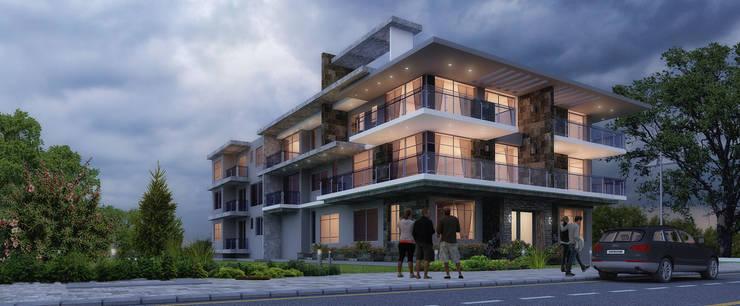 Casas multifamiliares de estilo  de Karim Elhalawany Studio, Moderno