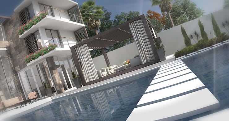 Villa von Karim Elhalawany Studio, Modern