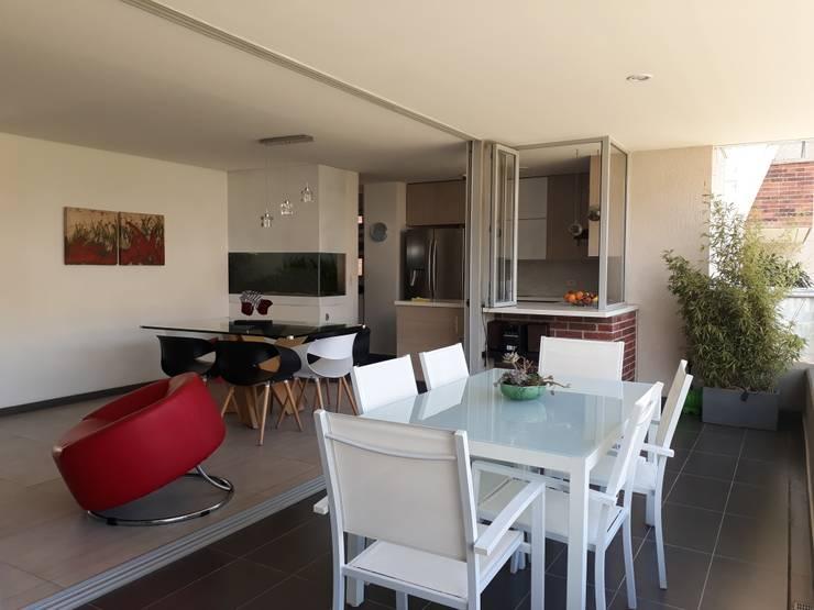 Area social2: Terrazas de estilo  por GEOARKITECTURA, Moderno