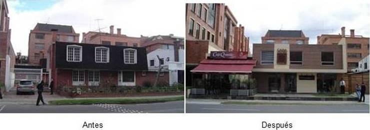 """Diseño Fachada Casa Delegada del Quindío en Bogotá:  de estilo {:asian=>""""asiático"""", :classic=>""""clásico"""", :colonial=>""""colonial"""", :country=>""""rural"""", :eclectic=>""""ecléctico"""", :industrial=>""""industrial"""", :mediterranean=>""""Mediterráneo"""", :minimalist=>""""minimalista"""", :modern=>""""moderno"""", :rustic=>""""rústico"""", :scandinavian=>""""escandinavo"""", :tropical=>""""tropical""""} por GEOARKITECTURA,"""