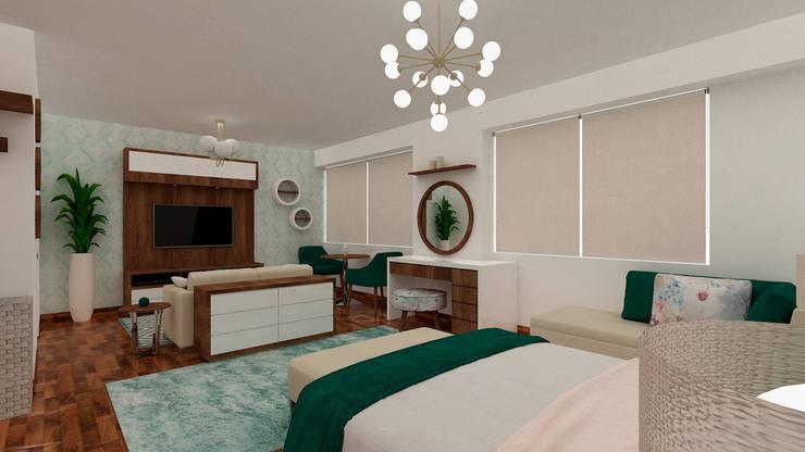 Dormitorio Principal:  de estilo  por MF STUDIO, Escandinavo