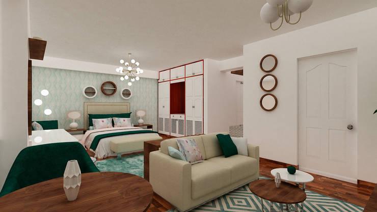 Dormitorio Principal:  de estilo  por MF STUDIO, Clásico
