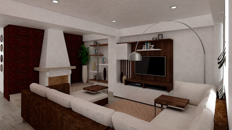 Family Room:  de estilo  por MF STUDIO, Moderno