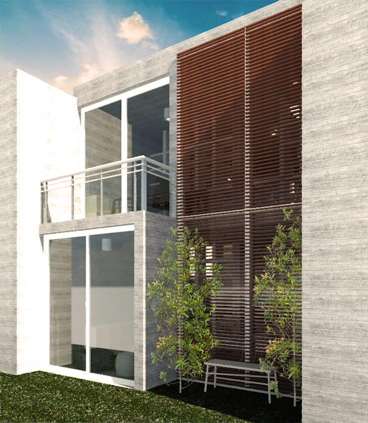 Oficina : Oficinas y Comercios de estilo  por Mc-Architect, Minimalista