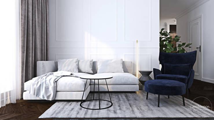 Strefa dzienna. Ambience. Interior Design Nowoczesny salon od Ambience. Interior Design Nowoczesny