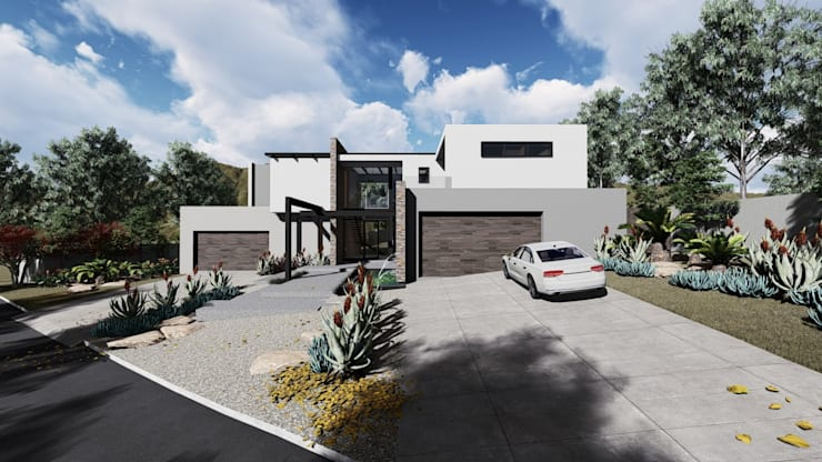 Modern House Exteriors:  Single family home by UpStudio Architects, Modern