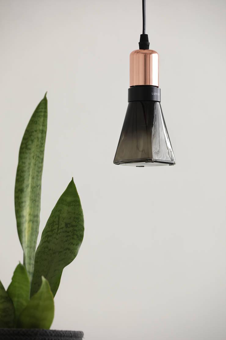 루미르B 디자인 LED 전구 : 주식회사 루미르의  침실,모던