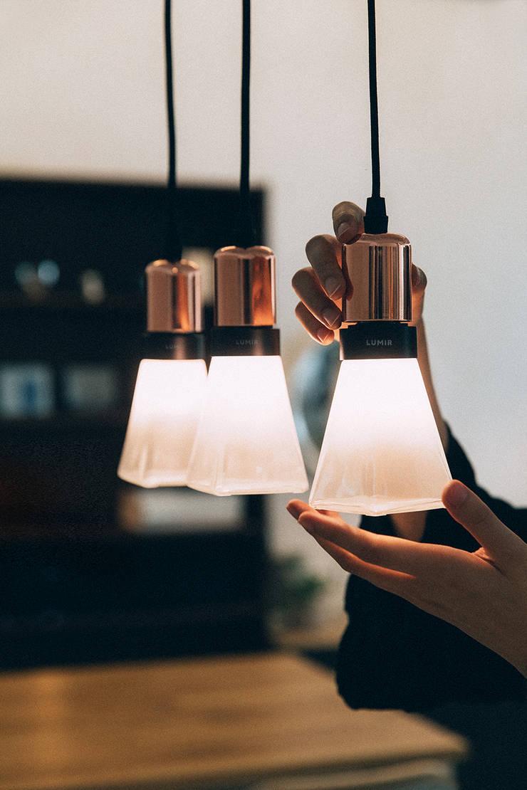 루미르B 디자인 LED 전구 : 주식회사 루미르의  방,모던