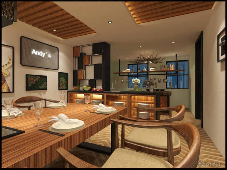 室內規劃完工照:  餐廳 by 漫漫發想室內設計, 鄉村風