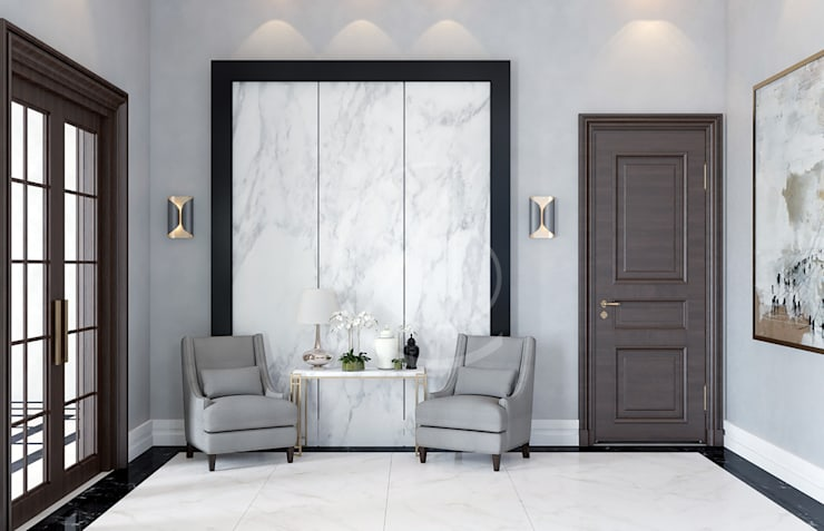 Modern Luxury House Interior Design Salon moderne par Comelite Architecture, Structure and Interior Design Moderne