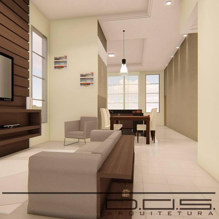 Livings de estilo moderno de D.O.S. Arquitetura Moderno Madera Acabado en madera