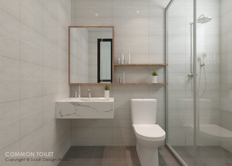 Bathroom by Swish Design Works, Modern Plywood