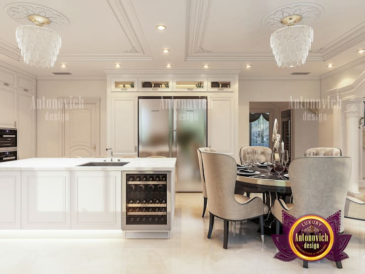 """Contemporary Royal Kitchen Design: {:asian=>""""asian"""", :classic=>""""classic"""", :colonial=>""""colonial"""", :country=>""""country"""", :eclectic=>""""eclectic"""", :industrial=>""""industrial"""", :mediterranean=>""""mediterranean"""", :minimalist=>""""minimalist"""", :modern=>""""modern"""", :rustic=>""""rustic"""", :scandinavian=>""""scandinavian"""", :tropical=>""""tropical""""}  by Luxury Antonovich Design,"""