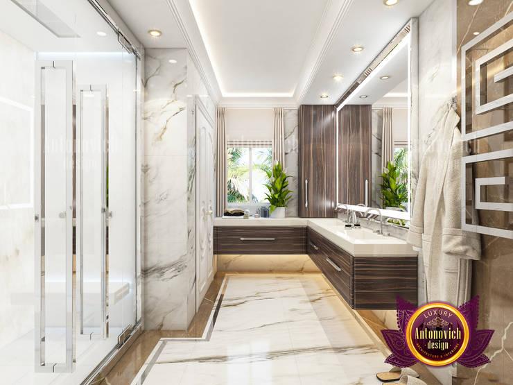 "Custom Marble Bathroom Interior: {:asian=>""asian"", :classic=>""classic"", :colonial=>""colonial"", :country=>""country"", :eclectic=>""eclectic"", :industrial=>""industrial"", :mediterranean=>""mediterranean"", :minimalist=>""minimalist"", :modern=>""modern"", :rustic=>""rustic"", :scandinavian=>""scandinavian"", :tropical=>""tropical""}  by Luxury Antonovich Design,"