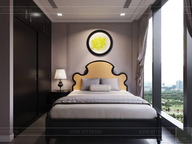 Phong cách nội thất phương Đông với tông màu <q>HỒNG</q> Phòng ngủ phong cách châu Á bởi ICON INTERIOR Châu Á
