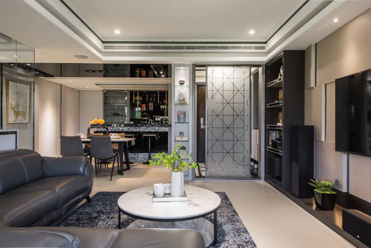 客廳:  客廳 by 你你空間設計, 現代風 塑木複合材料