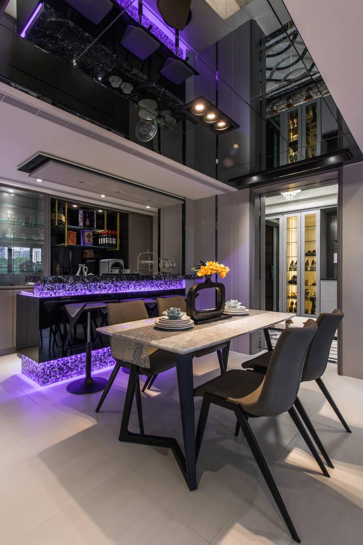 餐廳:  餐廳 by 你你空間設計, 現代風 大理石