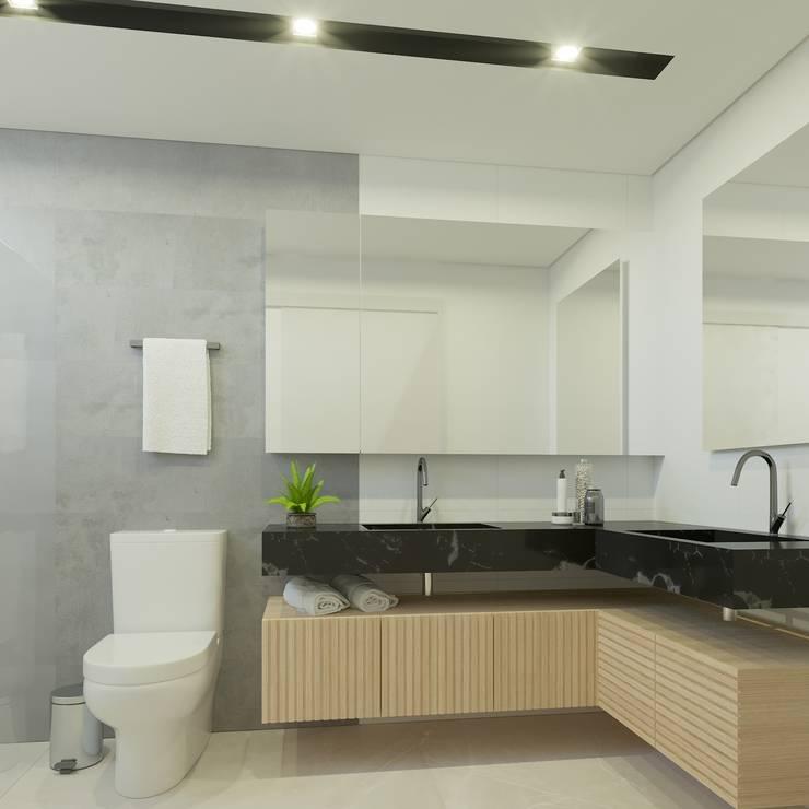 Ванные комнаты в . Автор – studio vtx, Лофт Твердая древесина Многоцветный