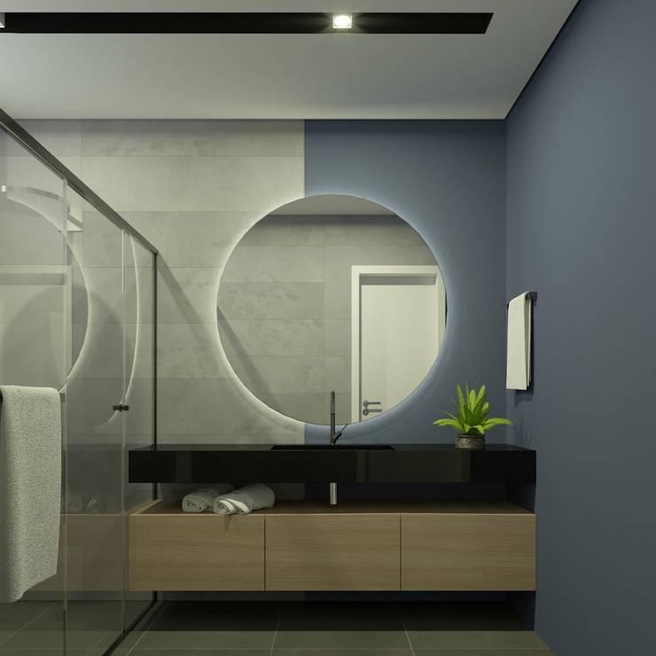 Ванные комнаты в . Автор – studio vtx, Лофт Плитка