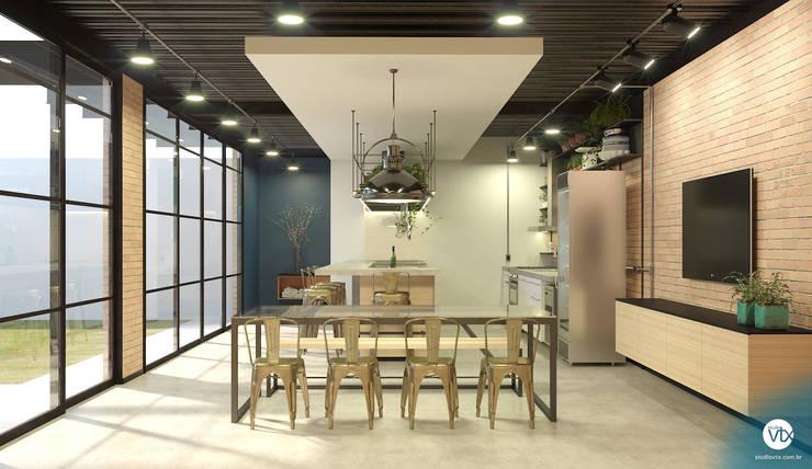 Кухни в . Автор – studio vtx, Лофт Кирпичи
