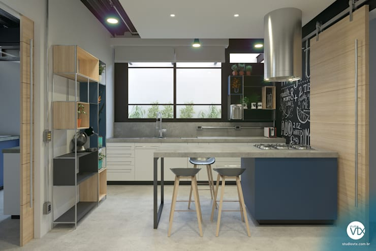 Кухни в . Автор – studio vtx, Лофт Бетон