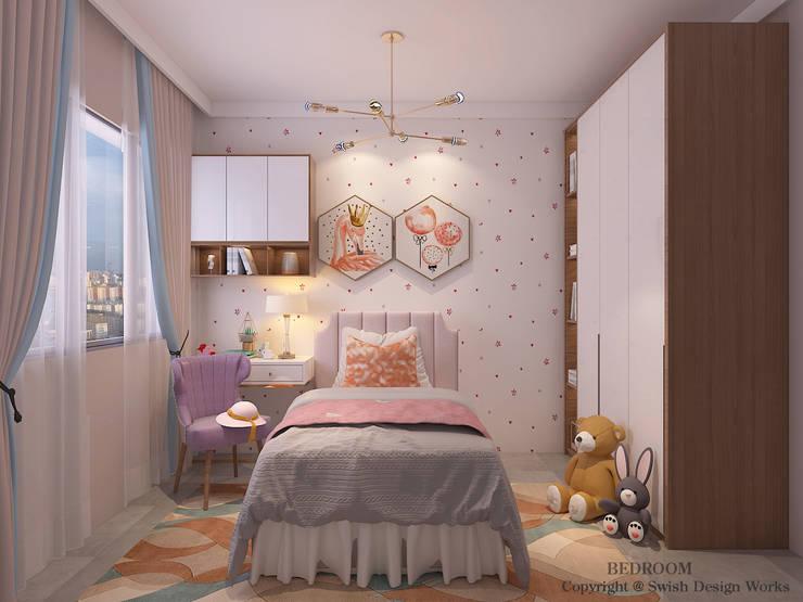 غرف نوم صغيرة تنفيذ Swish Design Works, حداثي خشب رقائقي