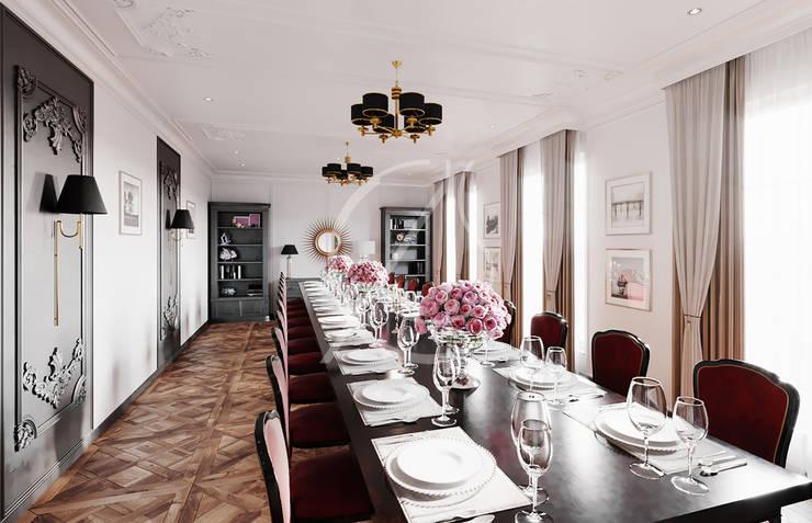 Georgian House Design Salle à manger coloniale par Comelite Architecture, Structure and Interior Design Colonial