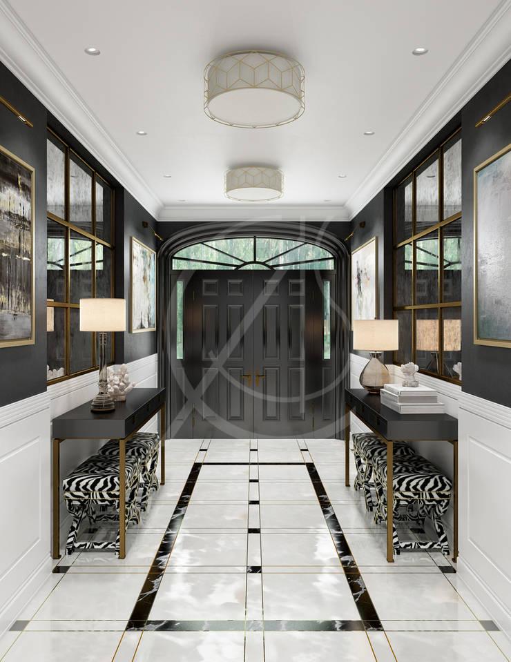 Georgian House Design Couloir, entrée, escaliers coloniaux par Comelite Architecture, Structure and Interior Design Colonial