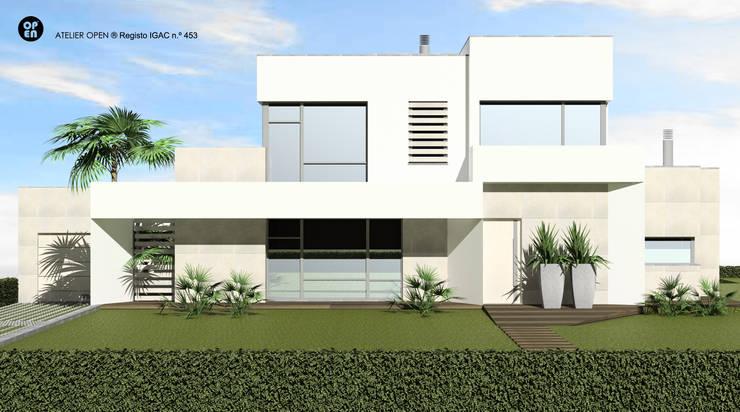 Single family home by ATELIER OPEN ® - Arquitetura e Engenharia, Minimalist Concrete