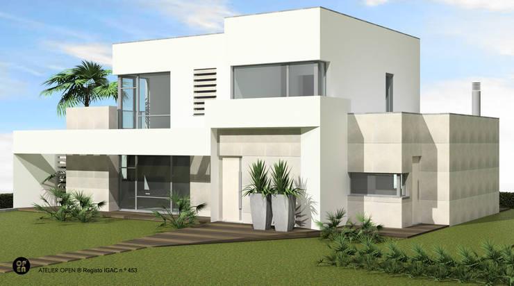 Villas by ATELIER OPEN ® - Arquitetura e Engenharia, Minimalist Iron/Steel